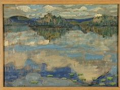 Arthur Lismer Nationality: Canadian Artist Dates: 1885 - 1969 Gender: male Title: Reflections Algoma Object Dates: 1919 Canadian Painters, Canadian Artists, River Painting, Artist Painting, Landscape Art, Landscape Paintings, Landscapes, Group Of Seven Art, Tom Thomson Paintings