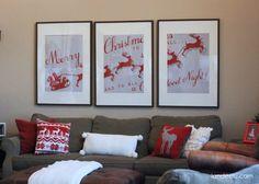 Santa Christmas Art Printables