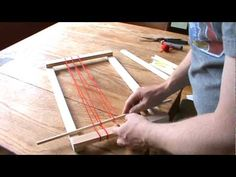 How to weave with a simple frame loom