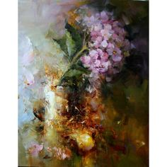 Angelica Privalihin    Hydrangea    Oil on Canvas    60 x 50cm