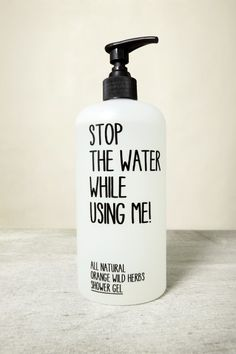 Very simplistic - the reflect the simplicity of the ingredients in the product. The handwritten type helps to give it more personality. The design is a flexographic print,  therefore labels aren't needed so you only have the plastic bottle.