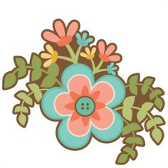 Flower group SVG