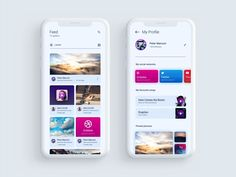 Social App - Mobile UI Inspiration designed by Kévin Sachs. Connect with them on Dribbble; Android App Design, App Ui Design, User Interface Design, Android Ui, Web Design, Website Design Inspiration, Ui Inspiration, Website Design Layout, Layout Design