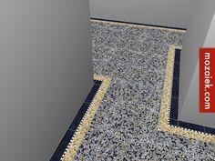 mozaiek.com utrecht – authentieke granito vloer met een plusje! marmer zwart blokje en donkere omranding