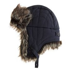 Trapper hats (aka<i> ushankas</i> in Russian) can be traced to central Asia, where superwarm hats with flexible earflaps have been worn for centuries to keep the cold at bay. Bet you didn't know that one. <ul><li>Cotton/nylon.</li><li>Dry clean.</li><li>Import.</li></ul>