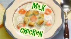 🍅 Chicken soup with croutons  🍏 Let's cook with Funny Fru! 😃