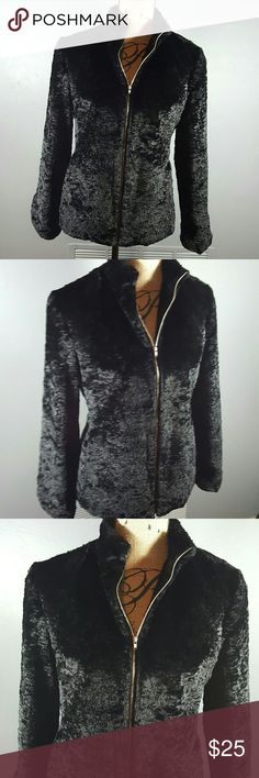 Harold's Black Faux Fur Zip up Jacket Gorgeous  Soft Clean  In great condition  Very cute and versatile  Smoke Free Home Harold's  Jackets & Coats