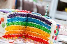 Regenbogenkuchen Rezept - einfach selbermachen » affektblog.de White Birthday Cakes, Beautiful Birthday Cakes, Beautiful Cakes, Cake Birthday, Birthday Cake For Women Simple, Birthday Diy, Happy Birthday Images, Happy Birthday Wishes, Birthday Photos