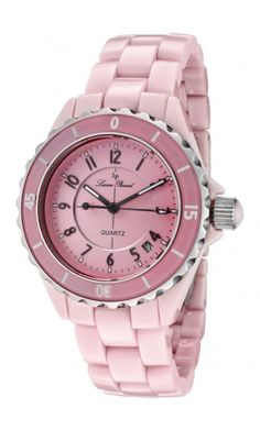 pink watches | Item #86: Pink Lucien Piccard Women's Ceramic Watch