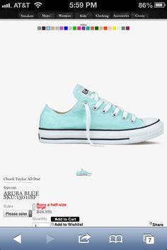 Tiffany Blue Converse http://pinterest.com/nfordzho/shoes-flats/