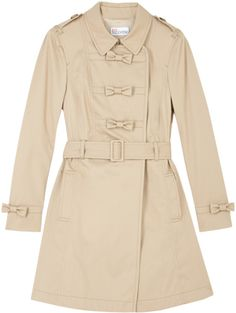Red Valentino Bow Front Trench Coat in Beige (red) - Lyst