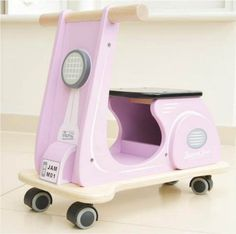 Indigo Jamm- Wooden Toys- Jamm Scoots Kids Ride On Scooter-Pink