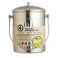 Kitchen Craft Komposteimer, Edelstahl, 5 l