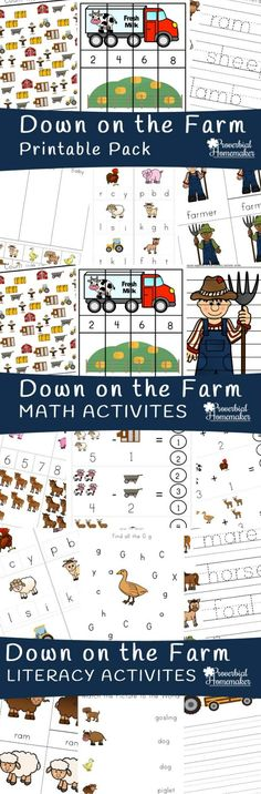 Download this farm printable pack FREE for subscribers! LOVE the fun activities… Preschool Curriculum, Preschool Printables, Preschool Binder, Farm Activities, Autumn Activities, Farm Lessons, Farm Unit, Farm Theme, Little Learners