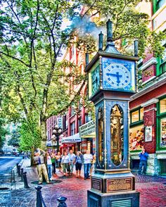 Steam Clock in the Gastown Historic District of Vancouver BC Canada. Visit the http://ift.tt/1thqi0O link in bio for fine art fun travel photo Blog world image gallery and photo classes. #gastown #vancouver #canada #steamclock #hdr #hdrpics #topazlabs #instagood #wow #travelblog #travelstoke #photoftheday #picoftheday #wanderlust #opt2travel #colors_of_day #vancouverisawesome