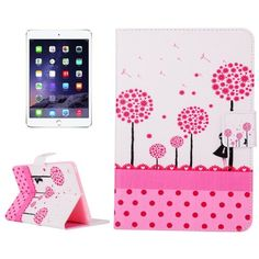 For+iPad+mini+3/2/1+Dandelion+Pattern+Cross+Leather+Case+with+Holder,+Card+Slots+&+Wallet
