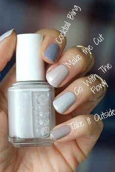 Shortly after my (very late) test of the Essie Fall 2016 Collection I have the new Winter 201 Grey Nail Polish, Gray Nails, Cute Nails, Pretty Nails, Essie Nail Colors, Nail Polishes, Nuetral Nail Colors, Gloss Matte, Nagellack Trends
