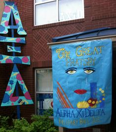 Loving this Great Gatsby theme at Alpha Xi Delta. This can work for recruitment or bid day. #AXD
