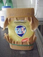 How to make a basket from needlepoint canvas(?) soaked in diluted glue
