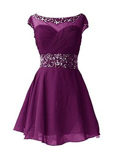 Short Homecoming Dress with beadings,Short wedding party dress with cap sleeves,custom made,color free,fast delivery. Make to order. Contact: bridetailor@hotmail.com