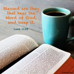 Bible Verses Kjv, Luke 11, Word Of God, Blessed, Mugs, Words, Tumblers, Mug, Horse