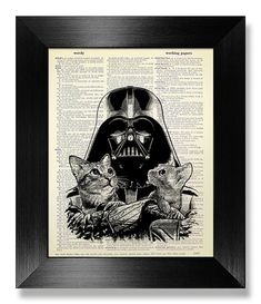 Black White Art Print STAR WARS POSTER Husband Gift by MEOWconcept