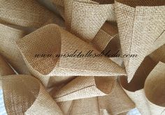 conos de yute para arroz jute cones for rice