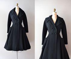 1950s princess coat / 1950s coat / Grand Tour wool coat. $425.00, via Etsy.