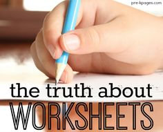 The Truth about Worksheets in Preschool and Kindergarten