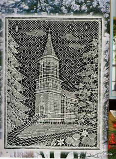 14 marca 2012 - Helena Strzępa - Веб-альбомы Picasa Bobbin Lace Patterns, Lacemaking, Lace Heart, Lace Jewelry, Suncatchers, Lace Detail, Crochet, Skyscraper, Louvre
