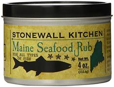 A rub that complements the flavor of fish without overpowering it Try adding to chowder, steamed shellfish, or stews Also tastes great on white meat and vegetables Stonewall Kitchen Maine Seafood Rub, 4 Ounce Jar