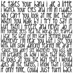 partial lyrics to the One Direction song, I Wish.(:
