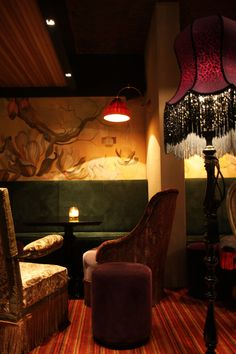 Bar Ludwig II in Amsterdam // passementerie, warm and romantic interior style // #interior #design by Ethnic Chic