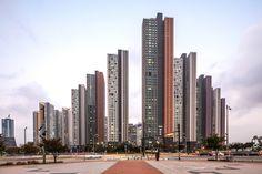 Futuristic Home, Abstract City, Facade Architecture, Condominium, Urban Design, San Francisco Skyline, New York Skyline, Exterior, Skyscrapers