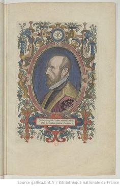 An ornately framed portrait from 'Theatrum orbis terrarum....' 1579