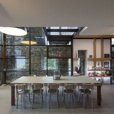 Contemporary Dining Room by Concrete by LCDA Sean loves this concrete table look