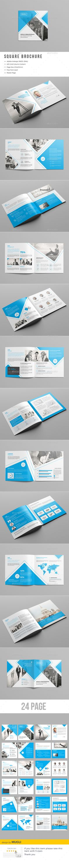 Corporate Square Brochure  InDesign Template • Download ➝ https://graphicriver.net/item/corporate-square-brochure/17141535?ref=pxcr