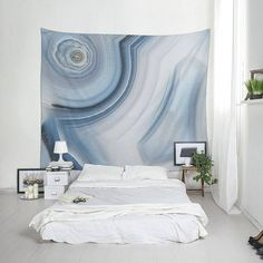 Wall tapestry of Brazilian agate Blue wall hanging Abstract Agate tapestry Dorm wall art Living room decor Boho large fabric. Dorm Tapestry, Tapestry Bedroom, Tapestries, Marble Tapestry, Dorm Walls, Affordable Wall Art, Blue Walls, Large Wall Art, Fabric Decor