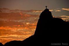 Por do sol..cristo redentor - Rio de Janeiro -Brasil