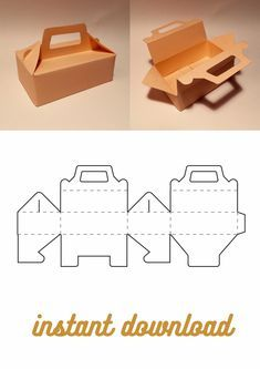 Diy Gift Box Template, Box Packaging Templates, Food Box Packaging, Paper Box Template, Box Templates, Cool Paper Crafts, Cardboard Crafts, Foam Crafts, Gable Boxes