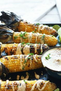 Grilled Corn with Sriracha Aioli | Minimalist Baker Recipes