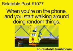 I used to watch my sister do this, she'd walk about 20 laps around the house in the same pattern. Lol