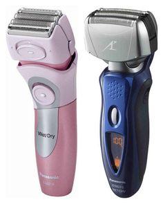 Women's and men's electric razors.
