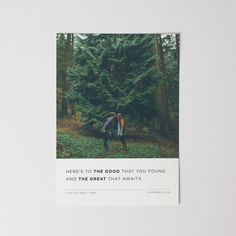 Here's to the good that you found and the great that awaits- HOLIDAY CARD= FOUND