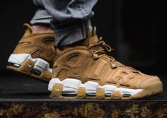 a8c12610d66f The Nike Air More Uptempo Wheat (Flax) is featured in a lifestyle look and  it s dropping on October