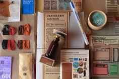 Via Flickr - gorgeous stuff to customize aTraveler's Notebook.
