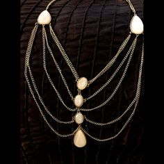 Selling this Elegant white appliqué drape necklace NEW in my Poshmark closet! My username is: jadeline. #shopmycloset #poshmark #fashion #shopping #style #forsale #Charlotte Russe #Accessories