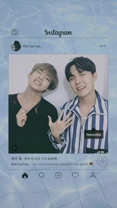 TaeHyung e Hoseok. Hoseok Bts, Bts Bangtan Boy, Bts Jimin, Foto Bts, Bts Photo, Bts Wallpapers, Bts Aesthetic, K Wallpaper, Pattern Wallpaper