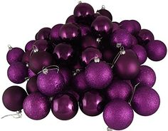 Vickerman Passion 4Finish Ornament Set Includes 32 Per Box 3Inch Purple * You can get additional details at the image link.