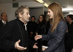"#StanaKatic and Placido Domingo at L.A. Opera's ""Simon Boccanegra"" opening night (2012)"